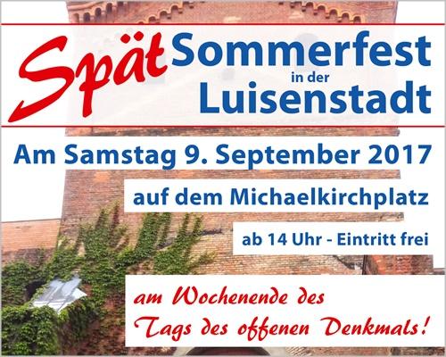 Bürgerverein Luisenstadt: Spätsommerfest am Tag des offenen Denkmals