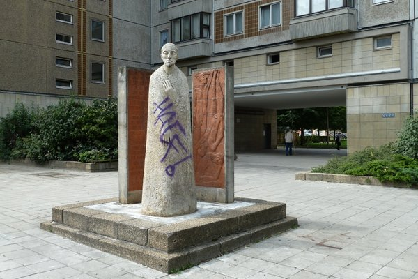Heinrich Heine Denkmal auf dem Vorplatz