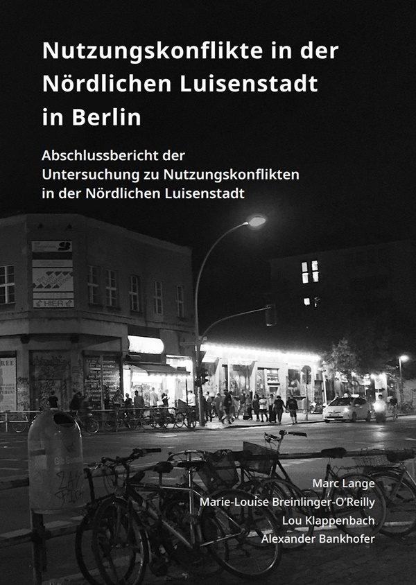 Bild: Cover des Abschlussberichtes - Party-Szene Köpi Ecke Heinrich-Heine
