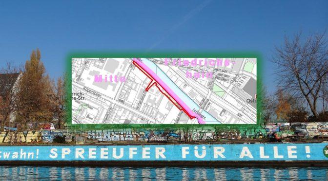 Spreeufer OST Nördliche Luisenstadt – Bebauungsplan 1-32aa öffentlich