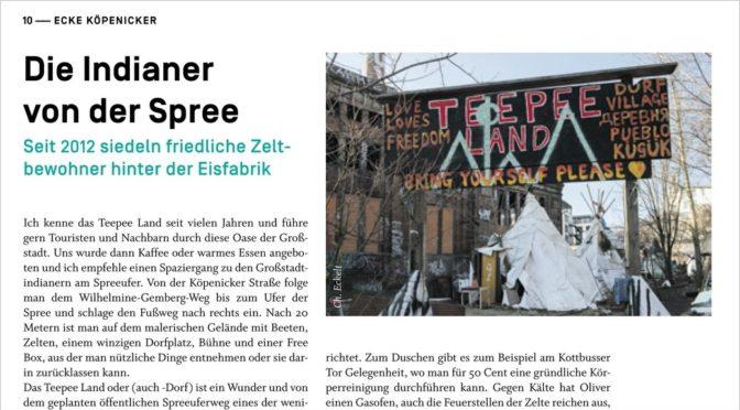 """Aus der """"ecke köpenicker"""" No 3 Juli/August 2020: Die Indianer von der Spree"""