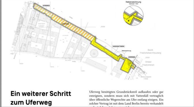 """Aus der """"ecke köpenicker"""" No 4 September/Oktober 2020: Ein weiterer Schritt zum Uferweg"""