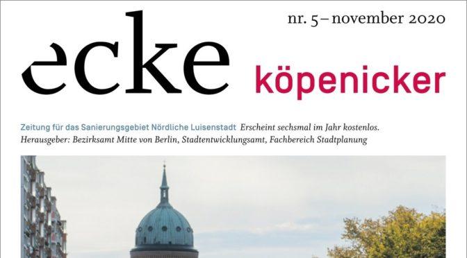 ecke köpenicker No. 5 2020: Köpenicker Straße bleibt Problemkind