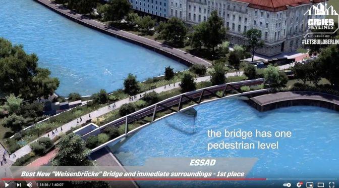 Die eindrucksvolle Live-Präsentation von Ideen für eine neue Waisenbrücke als Aufzeichnung
