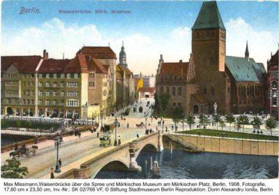 Ansichtkarte: Waisenbruecke, Max Missmann, 1908