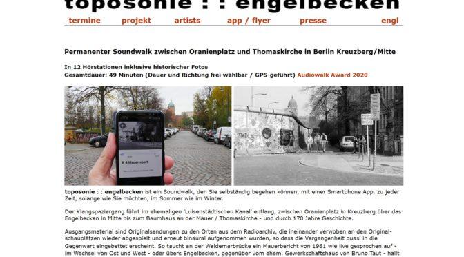 Luisenstadt-Geschichte im Soundwalk entlang des Luisenstädtischen Kanals